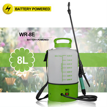 (1026) 2Gal on wheels garden water household weed control battery sprayer
