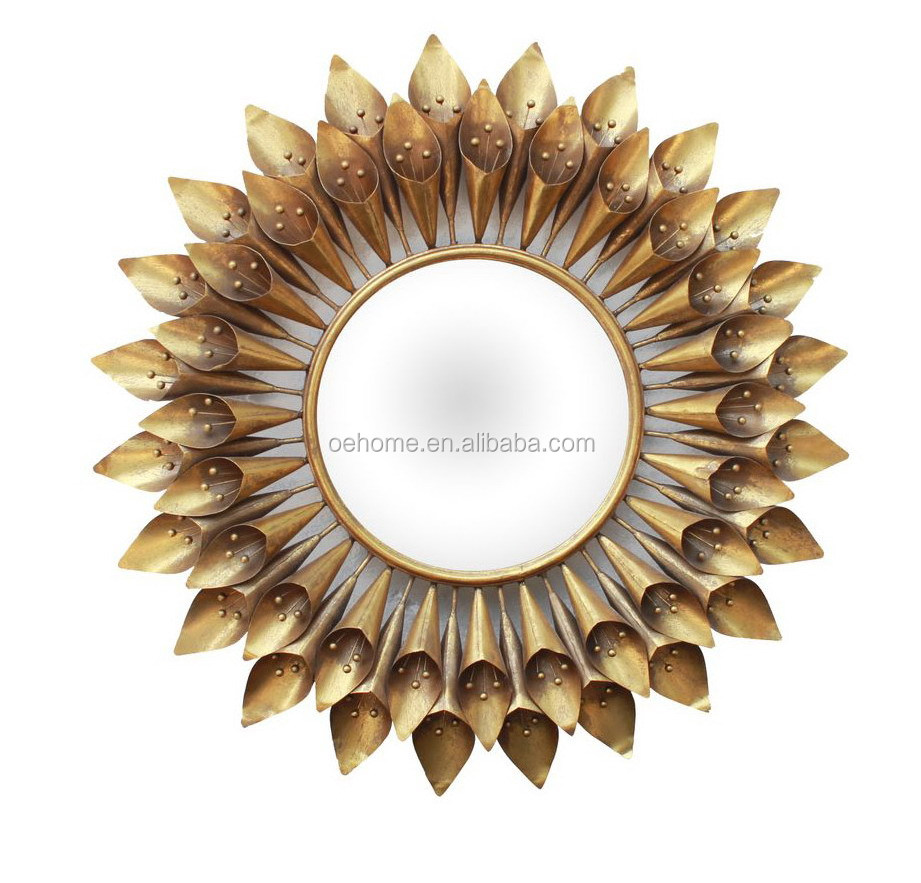 gold foil iron wall mirror