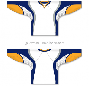 Yellow Color Wholesale Long Sleeve Ice Hockey Wear China OEM 5XL Funny Hockey Jersey