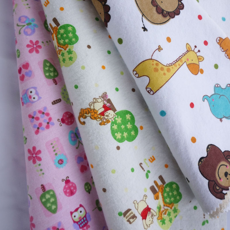 Bamboo Waterproof TPU Laminated Printed Cotton Flannel Fabric