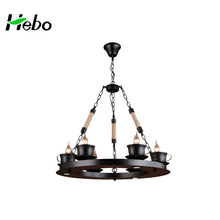 Decorative home black cup chandeliers on sale in bedroom