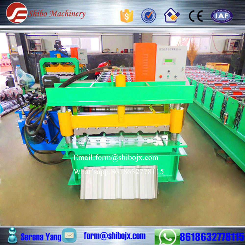 Botou ShiBo Roofing Sheet Wall Panel Double Layer Roll Forming Machine IBR Rollforming and Corrugated Rollformer line