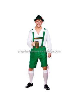Adult Bavarian Beer Guy Oktoberfest German Lederhosen Fancy Dress Halloween Costume Outfit AGM4188  sc 1 st  Alibaba : lederhosen halloween costume  - Germanpascual.Com
