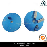 Concrete Flooring PCD wheel/ 2 quarter round pcd epoxy paint mastic wipe off grinding tools