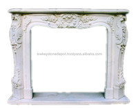 White Cultured Marble Fireplace