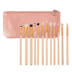 High quality Blending Pencil Makeup Brushes Pink Golden Eyeshadow Eyeliner Mini 12pcs makeup Brush set