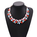 Fashionable color beaded collar necklace, 2017 new colorful bead chunky necklace, summer popular chunky beads necklace