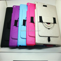 Pu Leather Hand Rotation Rubber Case For Ipad Air tablet case