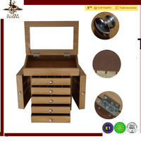 Christmas gift Wooden jewelry cabinet jewelry box with nature color wooden jewelry storage for ring storage MDF box