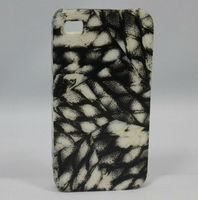 Cell Phone cover inlay with diamond fish skin