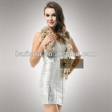 Marine foil-print strapless bandage dress sexy club dress