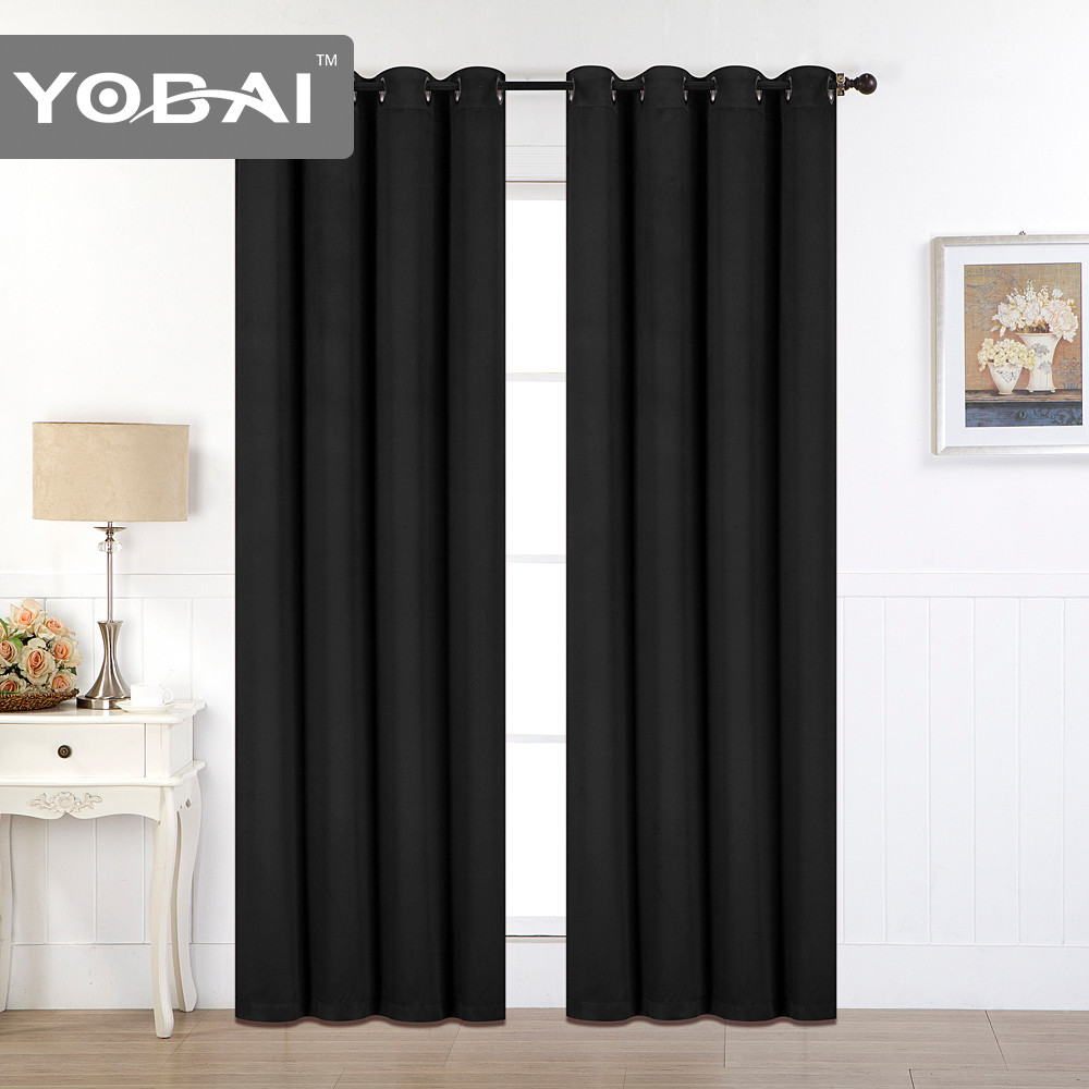 Blackout Curtain Thermal Insulated Window Drapes Solid