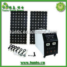 AC mobile solar photovoltaic generator,home solar system with 1200w inverter for air conditioner and fridege