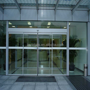 Aluminium frame clear tempered glass folding door with aluminium chip and hand custom-made on sales