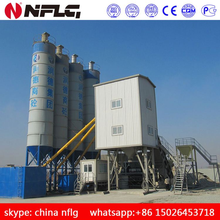 CE Certificated 50m3/h - 300m3/h Stationary Ready Mix Concrete Batching Plant for sale