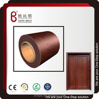 Steel wooden pattern color coated steel sheet for fireproof door panel