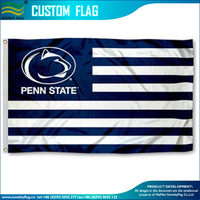 Nittany Lions Striped Penn State Flag