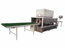 RF continuous wood door frame assembly machine