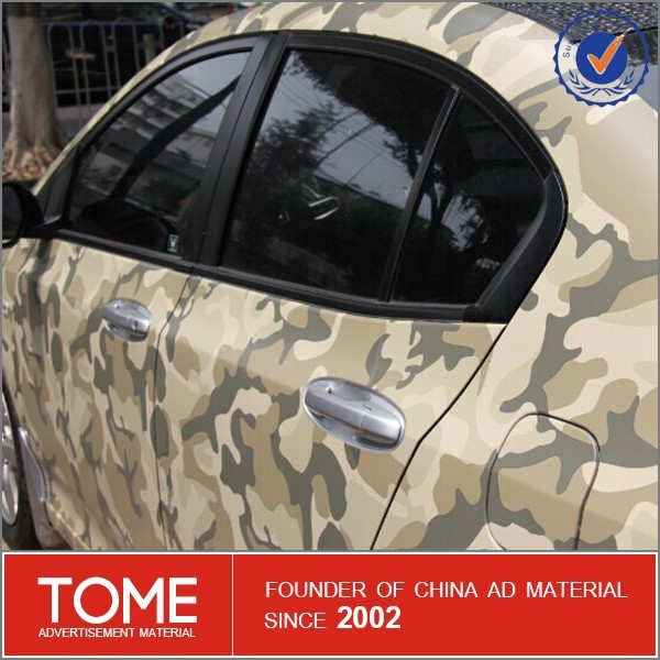 High Quality Camouflage Sticker Self-adhesive Vinyl with Air Channels