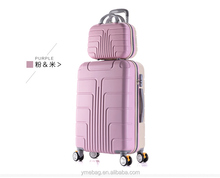2016 new design printing 12/20/24 3 pcs ABS+PC luggage and cosmetic case
