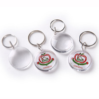 Custom shape round clear acrylic keychain maker