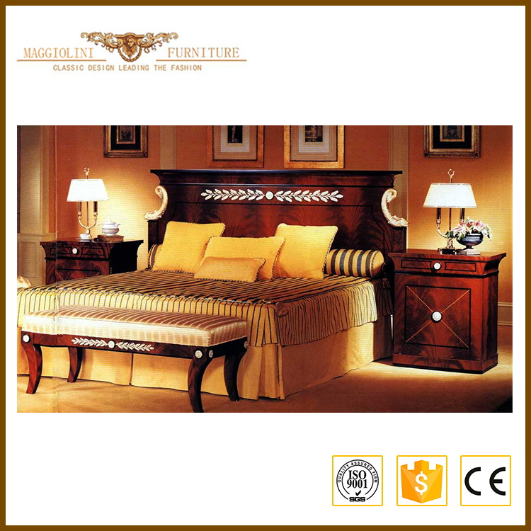 Shanghai factory First Grade antique bedroom suite
