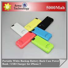 External Battery Case for Apple iPhone 5 5S Power Bank case 5000mAh