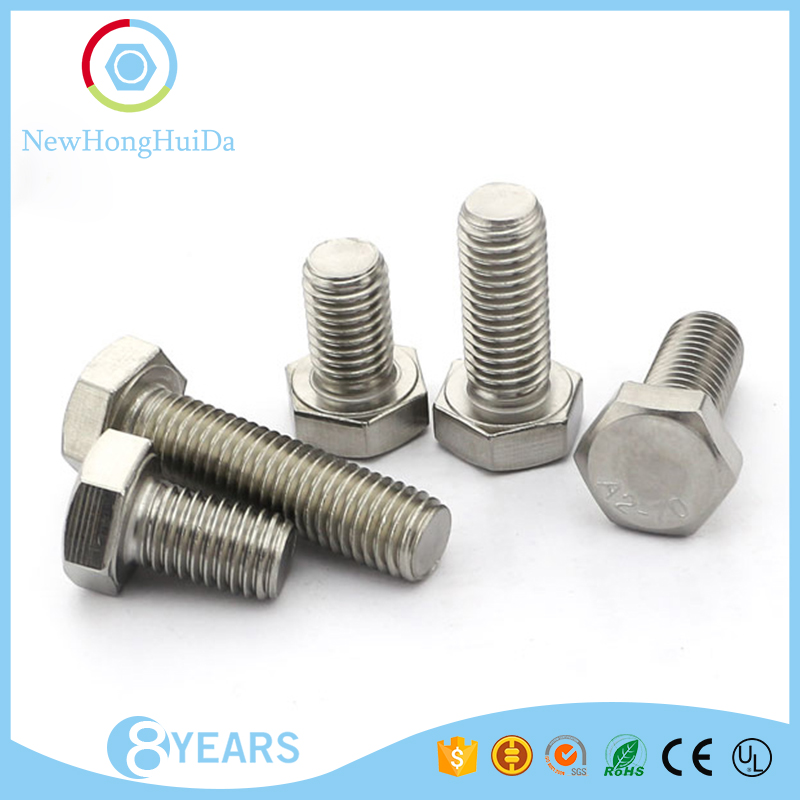 China fastener manufaturer M12 sizes stainless steel machine <strong>hex</strong> <strong>screw</strong>