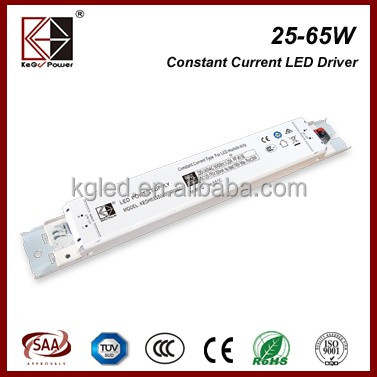 TUV SAA CE CCC 5 years warranty 25W 600mA flicker free non-isolated constant current slim LED driver