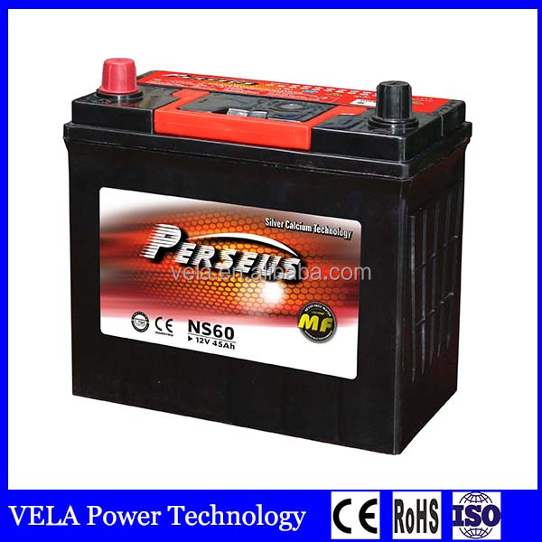 Japan Standards NS60 MF Lead Acid Car Battery For Car Starting