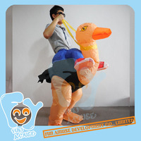 Inflatable Ostrich riding animal costume animal Costumes MOQ 50pcs