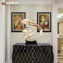 Guangzhou custom home decor abstract art resin modern sculpture for hotel indoor decoration