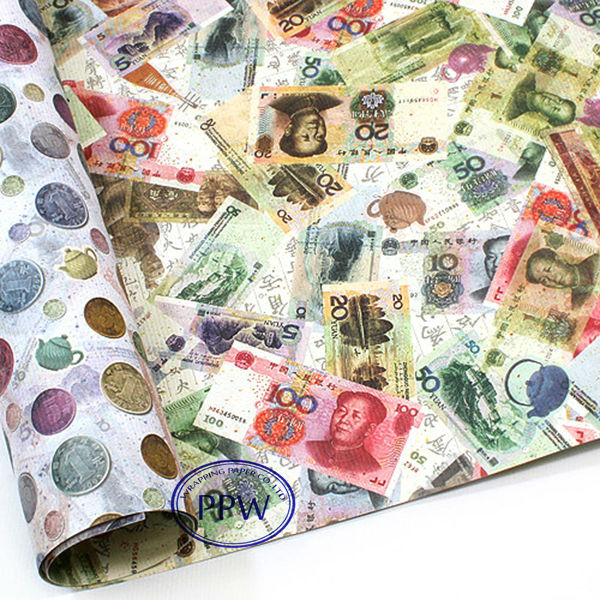 money wrapping paper