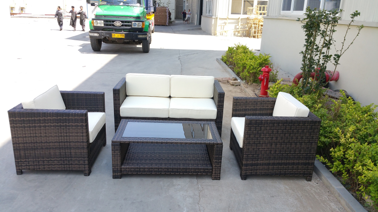 High Quality Steel&Alu frame wicker outdoor furniture