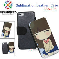 Sublimation Leather Flip Case for iPhone 5
