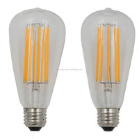 Dimmable 4W 6W 8W LED Long Filament bulb E27/E26 110/220V LED Vintage Edison Lighting LED Lamp