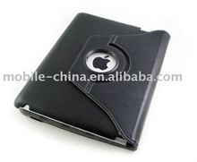 rotary leather case for Apple ipad 2 & leather cover case for ipad
