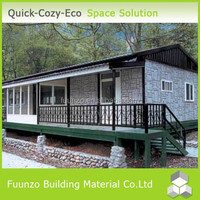 Low-cost Extensive Modern Prefab With Slope Roof