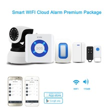 wireless WIFI cloud alarm system based on APP controlled work with IP cameradoor/window sensor approved FCC CE RoHS certificates