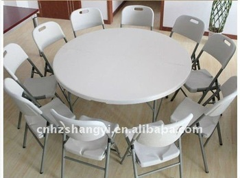Outdoor Furniture 5ft Round Folding Table And Chairs For Picnic