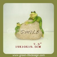 Smiles frog stone garden ornaments frog