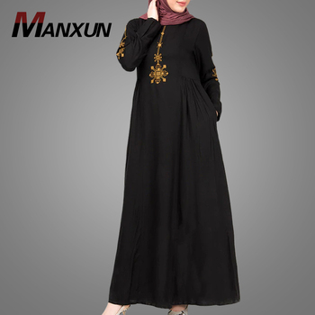 Traditional Dubai Abaya Dress Embroidery Design Middle East Black Clothes Best Price Muslim Abaya Pakistani Long Abaya