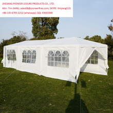 10'x30' White Garden Outdoor Gazebo Canopy Party Tent Removable Sidewalls