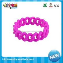 Best quality braided silicone chain bracelets hot sale name rubber band bracelet