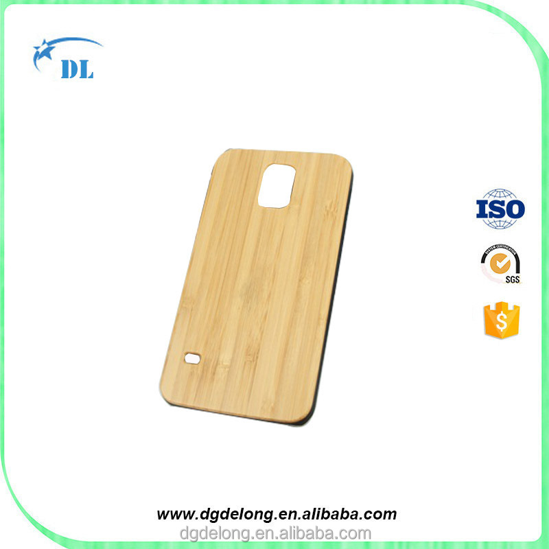 Unique Real Handmade Natural Wood Back Cover Hard PC Hybrid Bamboo Phone Case for samsung s5