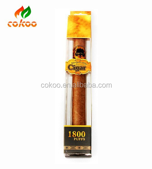 Hot selling big vapor e cigarette disposable e cigar wax vaporizer pen 1800puffs e cigar