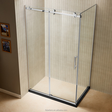 Wholesale Semi-Frameless Corner Sliding Shower Enclosure In Polished