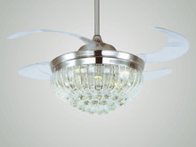 48'' MFL4813 DELUX DECORATIVE ceiling fan WITH CRYSTAL LED LIGHT