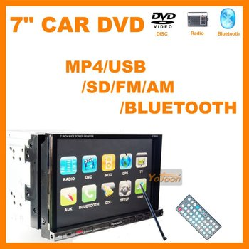 7 inch Two Din Car DVD Player with MP4(AVI/DIVX/5.X) DVD/VCD/SVCD/WMA/MP3/JPEG