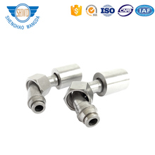Stainless Steel Swage Type Rubber Hose End Adapter Hydraulic Rubber Hose Elbow Connector Fittings